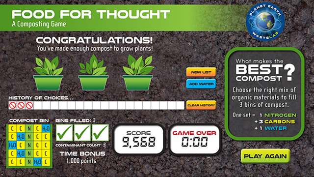 FOOD FOR THOUGHT—A Composting Game
